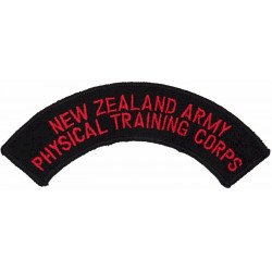 New Zealand Army / Physical Training Corps Last Type - Merrowed  Embroidered Non-British Army shoulder title