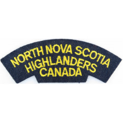 RCHA (Royal Canadian Horse Artillery) Green On Olive Embroidered Non-British Army shoulder title