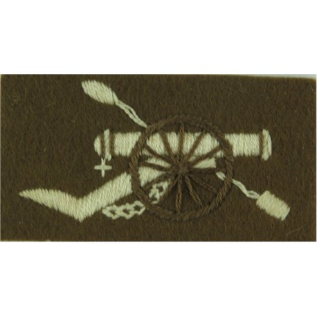 Royal Anglian Regiment: 2nd Battalion Black/ Amber/ Black  Ribbon Regimental cloth arm badge