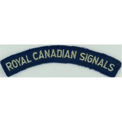 Svc Bn (Service Battalion) (Canadian Army) Green On Olive Embroidered Non-British Army shoulder title