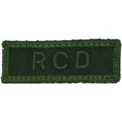 CFDS (Canadian Forces Dental Services) Green On Olive Embroidered Non-British Army shoulder title