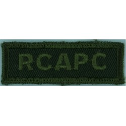 Trinidad & Tobago / Cadet Force Yellow On Dark Green Embroidered Non-British Army shoulder title