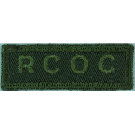 BCD (British Columbia Dragoons) Canada Green On Olive  Embroidered Non-British Army shoulder title