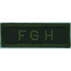 Sher H (Sherbrooke Hussars) (Canadian Army) Green On Olive  Embroidered Non-British Army shoulder title