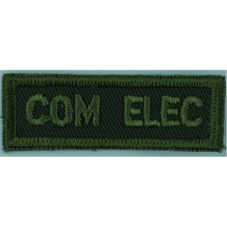 4 R 22e R (4th Bn Royal 22nd (Canadien Francais) Reg Green On Olive Embroidered Non-British Army shoulder title
