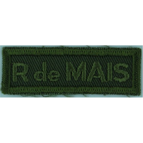 5e BN S DU C (5e Battailon Service Du Canada) Green On Olive Embroidered Non-British Army shoulder title