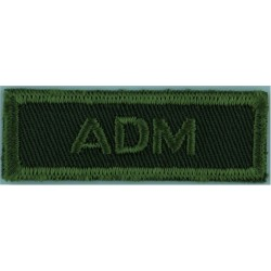 ADM (Canadian Armed Forces Administration Branch) Green On Olive  Embroidered Non-British Army shoulder title