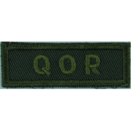 Tor Scot R (Toronto Scottish Regiment - Canada) Green On Olive  Embroidered Non-British Army shoulder title