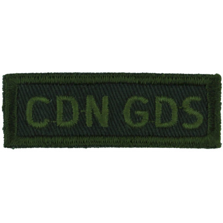 12e RBC (Regiment Blinde Du Canada/12 Armoured Regt Yellow On Black Embroidered Non-British Army shoulder title
