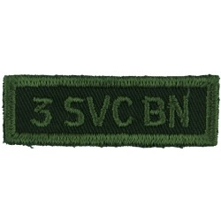3 SVC BN (3rd Service Battalion) (Canadian Army) Green On Olive  Embroidered Non-British Army shoulder title