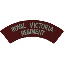 RCD (Royal Canadian Dragoons) Yellow On Black Embroidered Non-British Army shoulder title