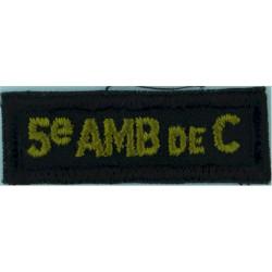Bayonet On Diamond (Combat Infantryman's Badge) White On Khaki  Embroidered Army cloth trade badge