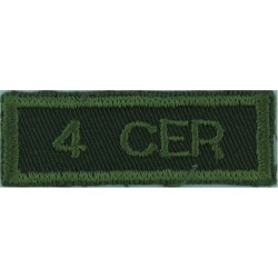 4 CER (4th Combat Engineer Regiment - Canadian Army) Green On Olive  Embroidered Non-British Army shoulder title