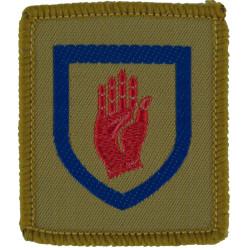 Royal Artillery SNCO's Gun FR Gold On Dark Blue  Bullion wire-embroidered Regimental cloth arm badge