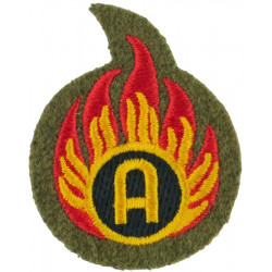 Flaming 'A' - Ammunition Technician - Small Bomb Disposal  Embroidered Army cloth trade badge