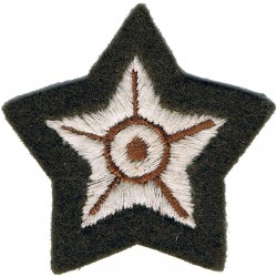 5-Pointed Star (Driver Mechanical Transport) On Khaki  Embroidered Army cloth trade badge