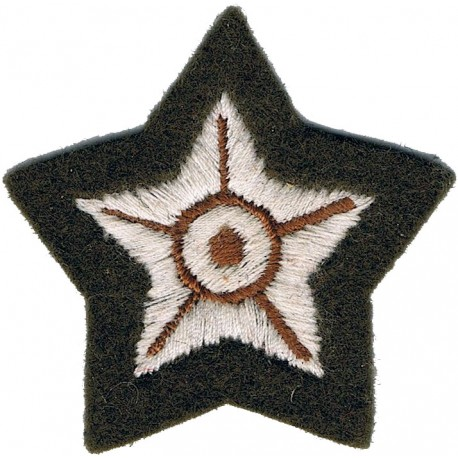 Commando Dagger (Commando Trained Soldiers) - Small Mess Kit On Dk Blue  Bullion wire-embroidered Army cloth trade badge