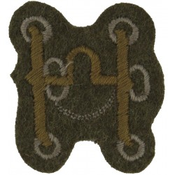 Bit (Saddle & Harness Maker - Guards) Khaki  Embroidered Army cloth trade badge