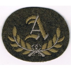 A In Wreath - A Class Tradesman (Guards) Large Khaki  Embroidered Army cloth trade badge
