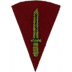 Commando Dagger (Commando Trained Soldiers) - Small Mess Kit On Red  Bullion wire-embroidered Army cloth trade badge