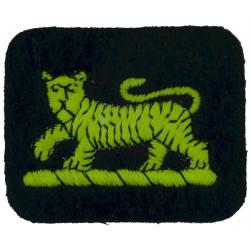 Princess Of Wales's Royal Regiment (Tiger On Blue Felt Rectangle)  Embroidered Regimental cloth arm badge