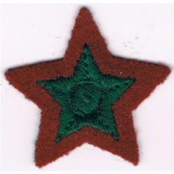 4-Pointed Gold Star On Khaki Circle OTC Certificate B Bullion wire-embroidered Army cloth trade badge