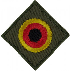 Roundel On Diamond - Colloquial German Speaker Black/Red/Yellow  Embroidered Army cloth trade badge