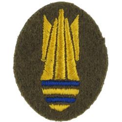 Bayonet On Diamond (Combat Infantryman's Badge) Green On Maize - LI Embroidered Army cloth trade badge