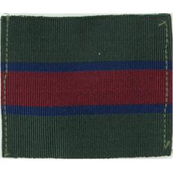 King's Regiment - 50mm X 63mm Green/Blue/Maroon  Ribbon Regimental cloth arm badge