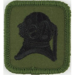 Diver's Helmet (Army Advanced Diver) Black On Olive  Embroidered Army cloth trade badge