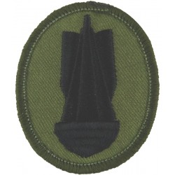 Bomb (Bomb Disposal Trade Badge) Black On Olive  Embroidered Army cloth trade badge