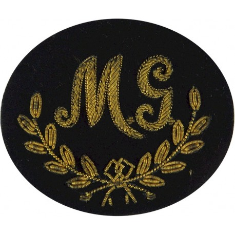 Bayonet In Wreath (Class 1 Infantry Soldier) - Irish Green On Black  Embroidered Army cloth trade badge