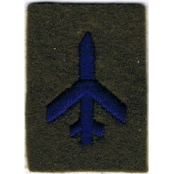 Aircraft Spotter Class II - RA (Plane - No Wreath) Blue On Khaki  Embroidered Army cloth trade badge
