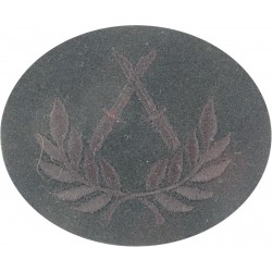 Crossed Bayonets In Wreath (Platoon Sergeant Course) Black On Rifle Green  Embroidered Army cloth trade badge