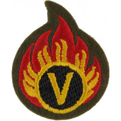 Flaming 'V': Volunteer Ammunition Technician Bomb Disposal  Embroidered Army cloth trade badge