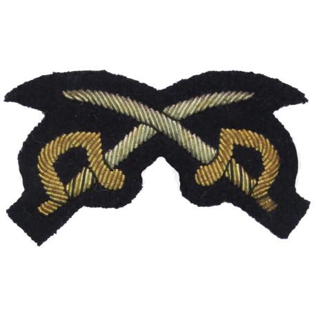 Crossed Flags - Signaller - Rifles & Gurkhas Black  Brass Army metal trade badge