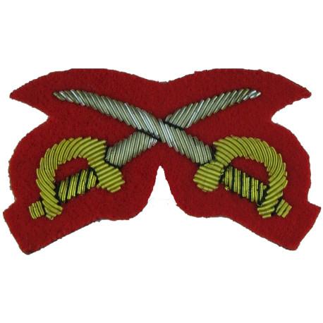 UK Tri-Service Military Ski School Instructor Badge with Queen Elizabeth's Crown. Enamel Army metal trade badge