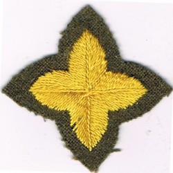 4-Pointed Yellow Star On Khaki   Embroidered Army cloth trade badge