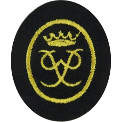 Duke Of Edinburgh's Award Badge Gold Level: On Black  Embroidered Army cloth trade badge