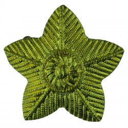 5-pointed Star - Driver   Brass Army metal trade badge
