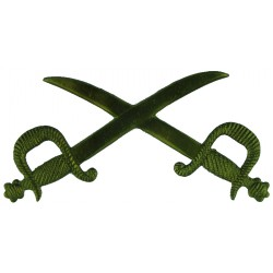 Crossed Swords - Physical Training Instructor   Brass Army metal trade badge