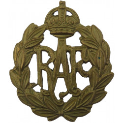 Royal Air Force Other Ranks with King's Crown. Brass Air Force Badge