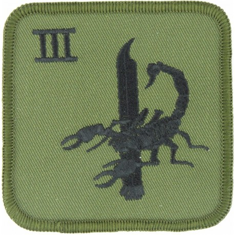 RAF Regiment - 3 Squadron (Northern Ireland) - Large III/Bayonet/Scorpion  Embroidered Air Force Badge