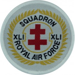41 Squadron RAF (Ops Badge -XLI Circular Sqn Crest) RAF Coltishall  Woven Air Force Badge