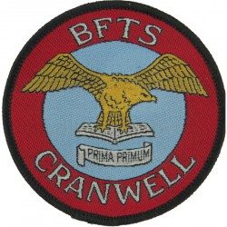 BFTS Cranwell (Basic Flying Training School) Eagle On Open Book  Woven Air Force Badge