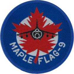3 F Squadron RAF - Maple Flag-9 Badge - 1982 Harrier GR 3  Woven Air Force Badge
