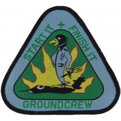 31 Squadron RAF - Groundcrew - Start It + Finish It Fanning The Flames  Woven Air Force Badge
