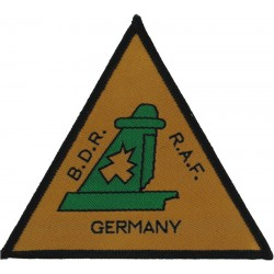 Royal Air Force Germany Battle Damage Repair Holed Tail-Plane  Woven Air Force Badge