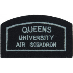 Queens University Air Squadron (Belfast) Shoulder Title  Embroidered Air Force Badge