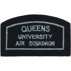 Royal Air Force Radar Research Squadron Flying Suit Crest with Queen Elizabeth's Crown. Woven Flying Suit Crest